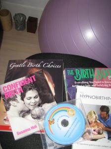 My birth prep stash! Including some bits on loan from Zara.